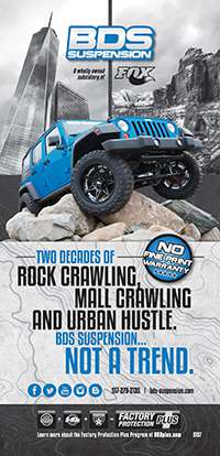 Two decades of rock crawling, mall crawling and urban hustle. BDS Suspension...Not a Trend
