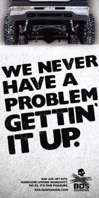 We never have a problem gettin' it up ad