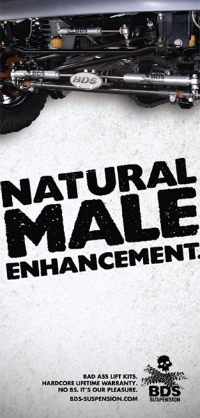 Natural male enhancement ad