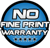 No Fine Print Warranty logo | BDS Suspension