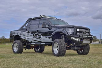 "Ford Super Duty with 8"" Coilover System"