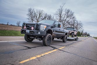 Ford F250 with Recoil Traction Bar
