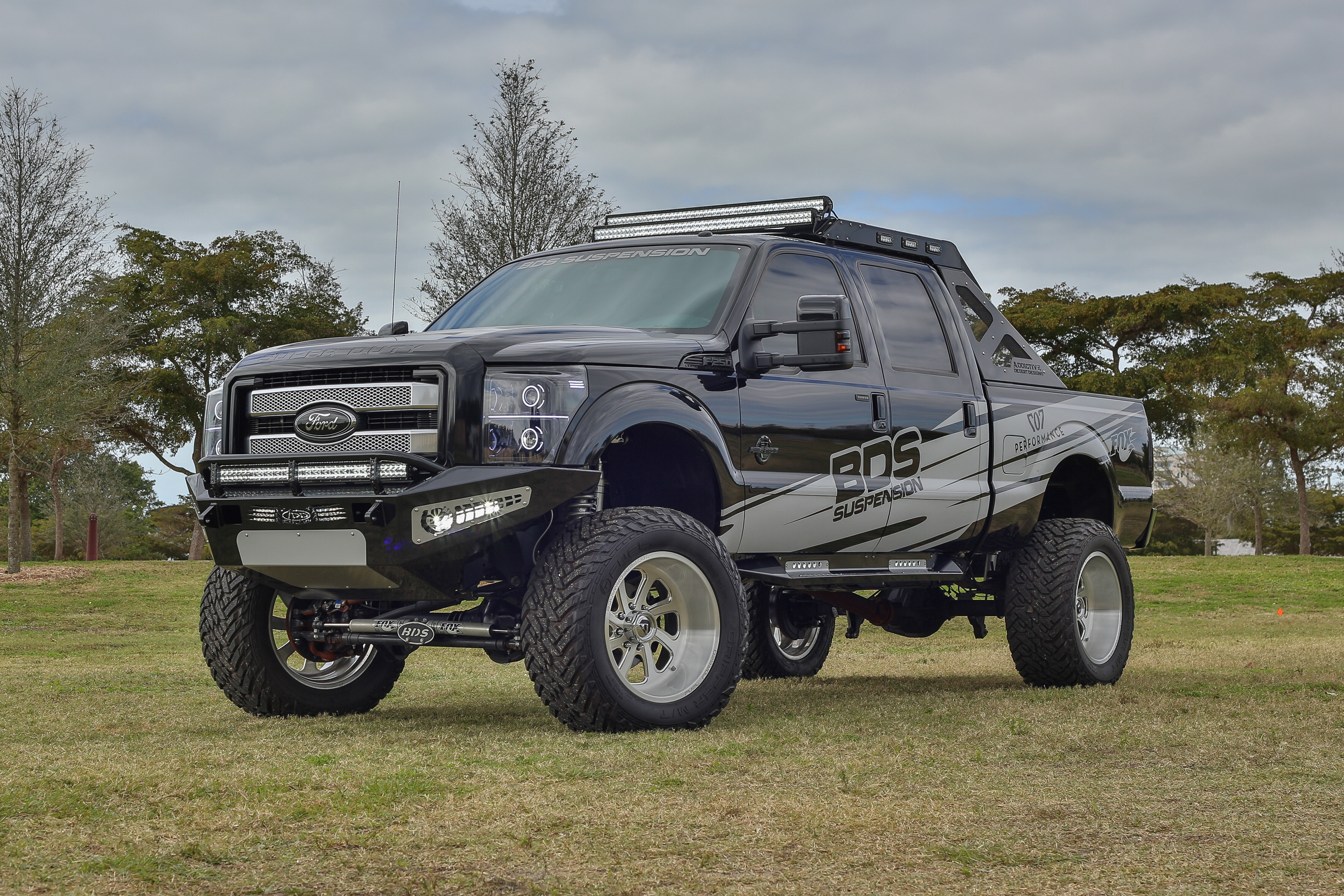 8 Coilover Systems For Ford Super Duty 2014 F 250 Platinum Black Chase F250 Bds 8in Conversion