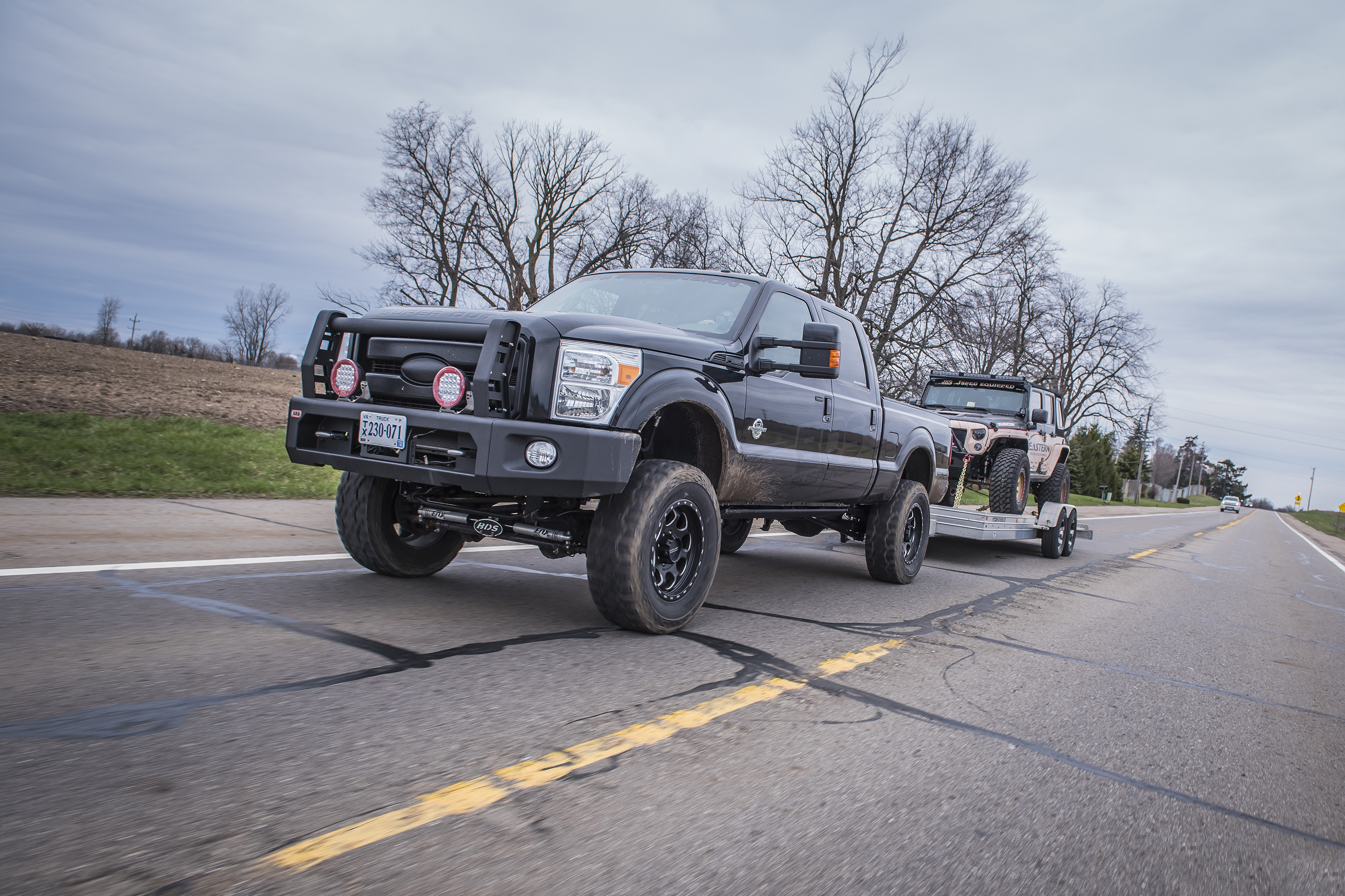 Ford F With Recoil Traction Bar