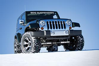 Jeep JK with Fox Dual Steering Stabilizer