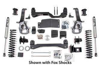 2009-11 Dodge 1500 4WD<br>4&quot; Suspension System; Shocks shown may differ from base kit.