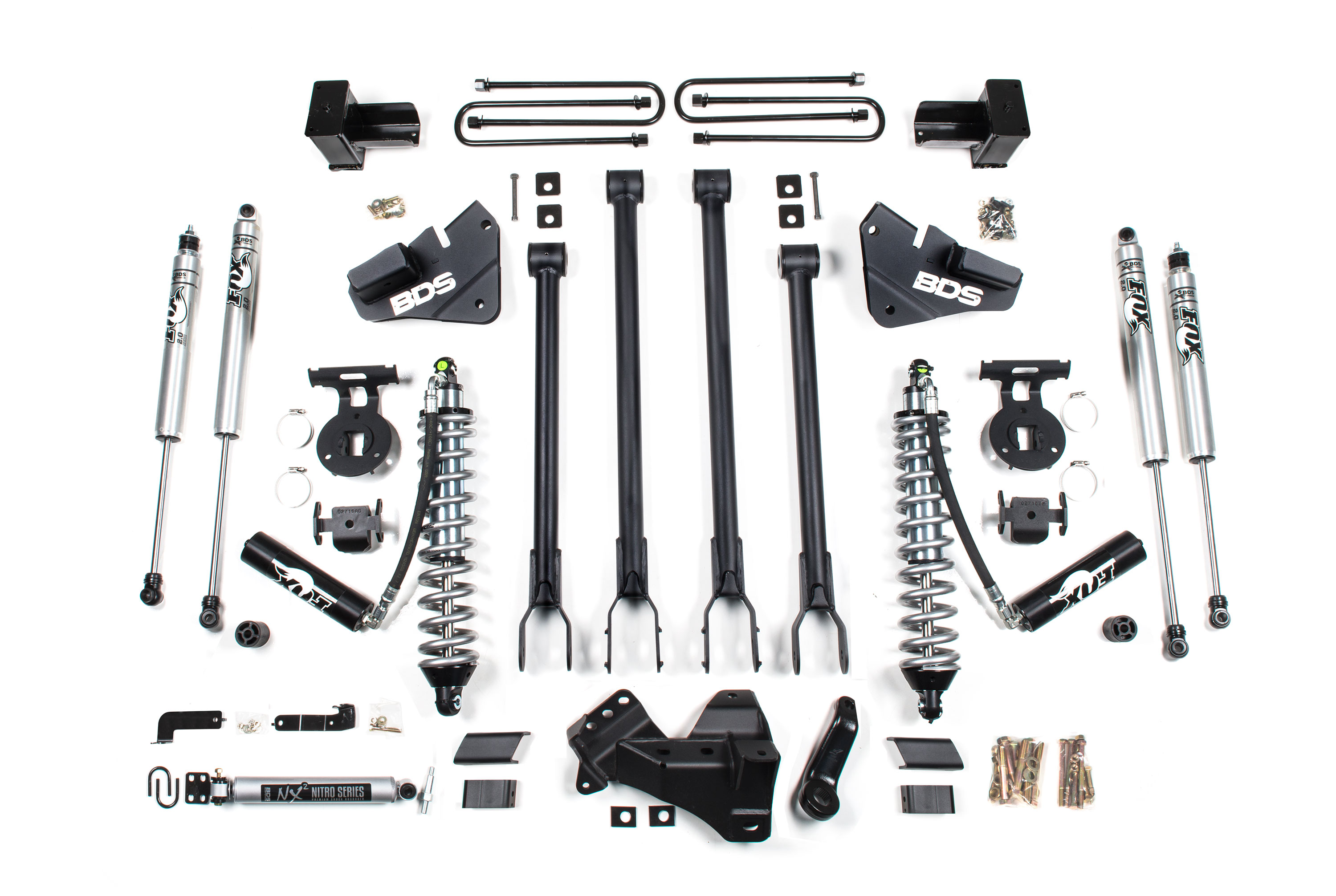 00-04 Ford Super Duty 4x4 Front Stabilizer Bar End Link Kit Mevotech HD Upgrade