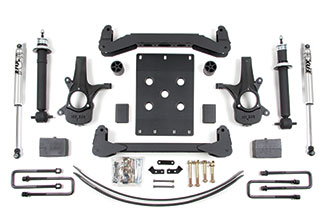 "6"" Complete Suspension System; Shocks shown may differ from base kit."