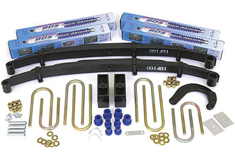 "4"" Complete Suspension System with Rear Block Kit; Shocks shown may differ from base kit."