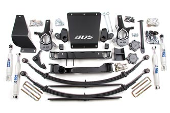 4&quot; High Clearance Suspension System<br>Shown with rear leaf spring option; Shocks shown may differ from base kit.