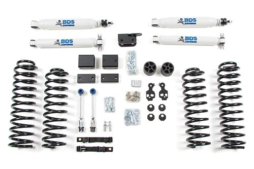 Shocks shown may differ from base kit.