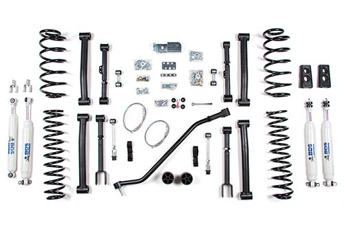 "4-1/2"" 4WD Jeep Grand Cherokee ZJ; Shocks shown may differ from base kit."