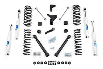 "4"" 4WD Jeep Grand Cherokee WJ Coil System; Shocks shown may differ from base kit."