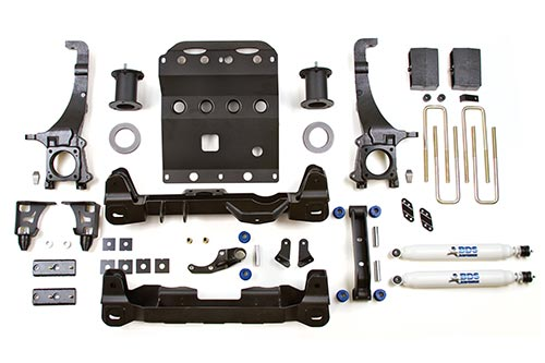 Complete lift kit with strut spacers