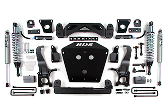 "4.5"" Coil-Over Suspension System; Shocks shown may differ from base kit."